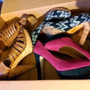 Lot of 3 pairs of Roberto Vianni heels-sz:9